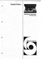 B & O Service manual für Beogram 4002- 6000  Type 5501- 5502          Copy