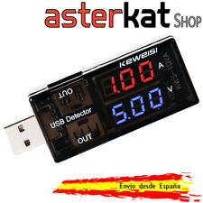 Voltimetro Amperimetro USB Keweisi 3-7.5V 0-5A Smatrphone Arduino Tester