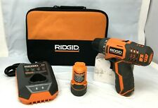 Ridgid R82005K 12-Volt Lithium-Ion 3/8 in. Cordless 2-Speed Driver Drill Kit A8