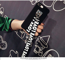 Cute Black &White Girly Necklace Case Cover with Strap For iPhone 6 6s Plus 7 7+