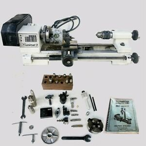 Emco Unimat 3 Lathe w/Accessories USED WORKING CONDITION