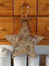"""Large 9 3/4"""" x 9 1/2""""  Star Rustic Cabin Country Birch Peg Hanger"""