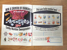 1965 Libby's Lucky Number Sweepstakes Ad Win a Sackful of Diamonds Contest