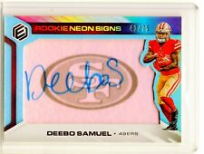2019 DEEBO SAMUEL PANINI ELEMENTS NEON SIGNS BLUE PARALLEL SP AUTO RC /75 49ERS