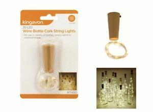 1 PC Bottle TOP String Lights 20 LED Warm White Fairy Wine Cork Shaped Stopper