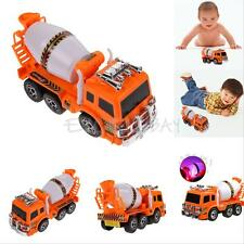 1:22 Scale Large Cement Mixer Truck Music Flash Vehicle Cars Model Boys Kids Toy