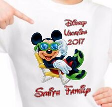 Mickey Mouse Disney Relaxing Vacation PERSONALIZE Add Name  Custom T-shirt