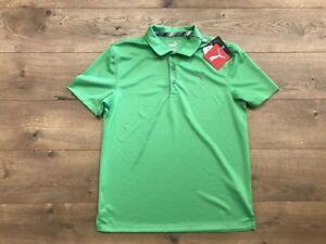Puma DryCell Boys Essential Golf Polo Shirt Irish Green Youth SZ L ( 578133 04 )
