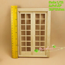 DIY Double Hung 14 Panel French Glass Door Doble Puerta Hung 1/12 scale