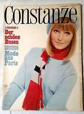 CONSTANZE Heft 36 August 1965 Mode Wohnen Fernsehprogramm