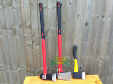 3 Fibre Glass Axe Set RED 6LB Log Splitter Maul 4LB RED Axe YELLOW Hatchet YY