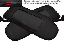 RED STITCHING FITS CORVETTE C5 1997-2004 2X SUN VISORS LEATHER COVERS ONLY