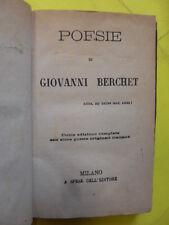 BERCHET - POESIE
