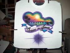 Airbrushed T-Shirt DOUBLE BEACH HEART S M L XL 2X 3X 4X
