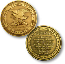 NEW NRA Seal Second Amendment - National Rifle Association Challenge Coin. 54000