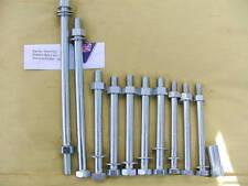Perno de montaje del motor de acero Cinc Plateado Set 11 Tornillos BSA A10 A7 Brazo Oscilante