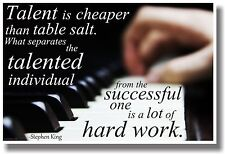 Talent Is Cheaper Than Table Salt - Piano - NEW Classroom Motivational Poster