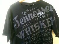 Authentic Jack Daniel's Whiskey Old No. 7 Black Tshirt Sz L Something Different