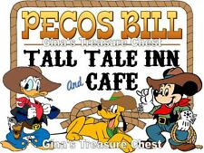 Disney World Pecos Bill Restaurant Scrapbook Paper Die Cut Piece