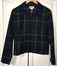 Pendleton Women's US 8 100% Virgin Wool Jacket Plaid Waist Length