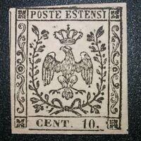 Modena 1852 10 cent n.9 nuovo ** con gomma