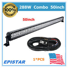 50'' 288W LED Combo Light Bar 6000K Off road UTE Ford +Wiring 150W/234W/300W MS