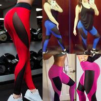 Women High Waist Yoga Fitness Leggings Long Pants Running Stretch Sport Trousers