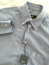 NWT FENDI Men's Long Sleeve Blue Dress Shirt Size 15 3/4 40 Corneliani Executive