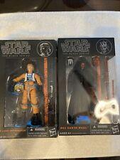 Star wars black series 2013 Luke Skywalker / Darth Maul 6? lot