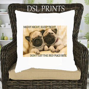 Pug Cushion Pillow Case Cover Comedy Cute Dog Puppy Animal Home Decor Gift New