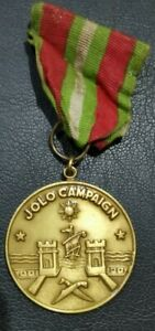 PHILIPPINES: JOLO CAMPAIGN MEDAL WITH RIBBON