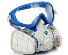 Silicone Full Face Respirator Gas Mask Goggles Cover Paint Chemical Pesticide