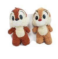 "Disney Chip & Dale  Plush Stuffed Chipmunk Set Toy Doll Authentic 6"""