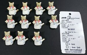 11 Vtg JHB International Beatrix Potter Peter Rabbit Novelty BUTTONS Mrs Ribby