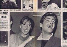 Coupure de presse Clipping 1959 Pascale Audret &Sami Frey (3 pages)