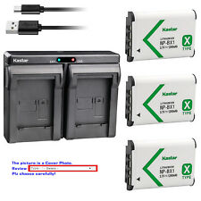 Kastar Battery Dual Charger for Sony NP-BX1 Cyber-shot DSC-RX100M6 (RX100 VI)