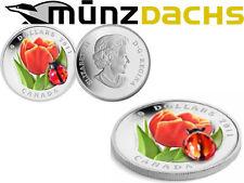 $20 Ladybug Tulip Venetian Murano Glass 1 oz .9999 silver Silver Canada 2011