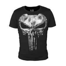 The Punisher Skull Ghost T-shirt Shirt Sport Tops Casual Black Cosplay S~4XL