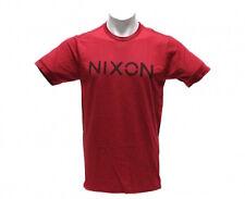 Nixon League Mock Twist Short Sleeve Tee T-Shirt (XXL) Red/Black
