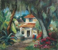 Tod Lindenmuth 1935 St. Augustine FL Florida landscape oil painting
