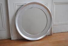 REDUCED ! Huge Silver Leaf Circular Mirror Diameter 85cm - Overmantle