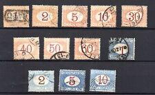 1870/94 - Regno - Segnatasse 12 valori usati