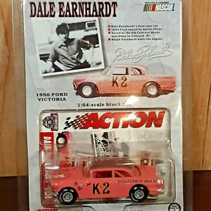 Dale Earnhardt first race car Pink #K-2 1956 Ford 1:64 Action Diecast NASCAR