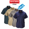 SALE! Hard Yakka Cotton Drill Work Shirt 2PK Button Short Sleeve Workwear Y07510