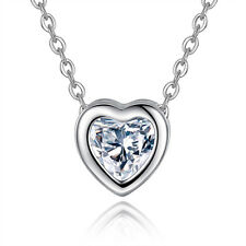Korean Womens mini heart pendant Stainless steel chain necklace Cute jewelry
