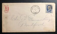 1881 Bradford MA USA Commercial Cover Domestic Used Holiday Greeting