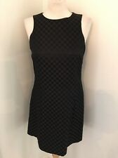 Vintage 90's Jeanette Kastenberg Damier Checkerboard Brown Black Dress Sz 6 EUC