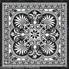 Black & White Palm Artistic Tile Kitchen Backsplash Ceramic Border Accent