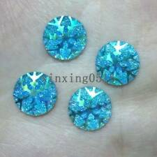 40pcs 12mm Resin AB color snowflake round/FlatBack scrapbook/Christmas DIY craft