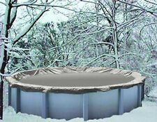21' Round Above Ground Winter Swimming Pool Solid Cover 20YR > REINFORCED HEM